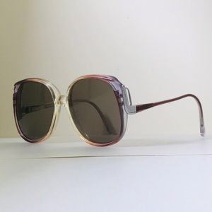 80s True Vintage Drop Temple Oversized Sunglasses